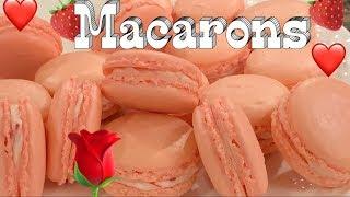 Bánh Macarons - Cách Làm Bánh Macarons vị dâu tây cực xinh và ngon - Vietnamese Version