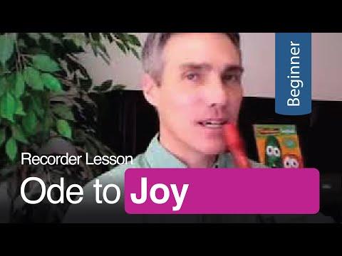 Ode to Joy: Recorder Lesson - Free Printable Sheet Music