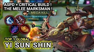 ASPD + CRIT BUILD ! TOP 1 Global Yi Sun Shin ex SKYHunTeR Yi Sun Shin Gameplay - Mobile Legends