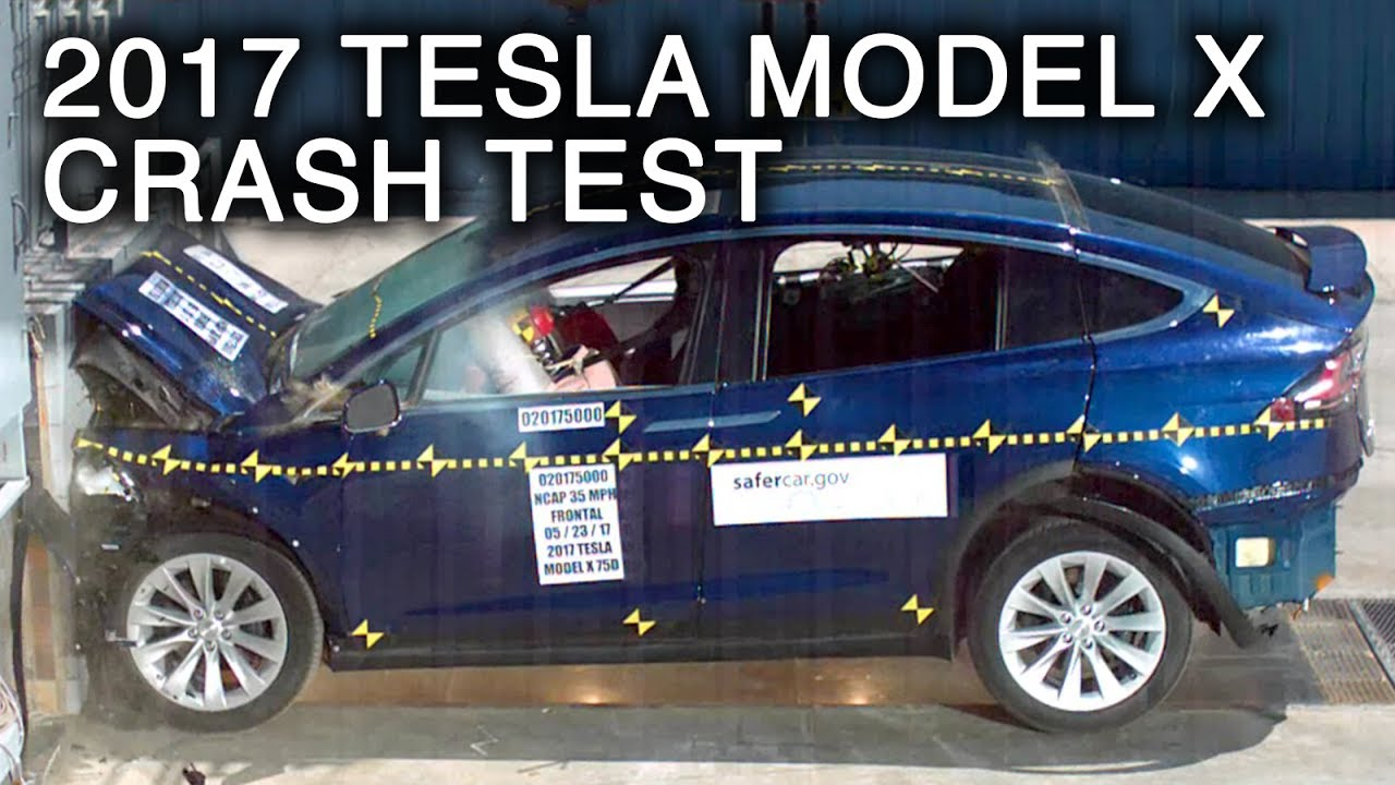 2017 tesla model x frontal crash test youtube. Black Bedroom Furniture Sets. Home Design Ideas