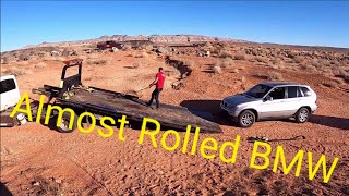BMW X5 In a Bad Way Stuck and Broken Up