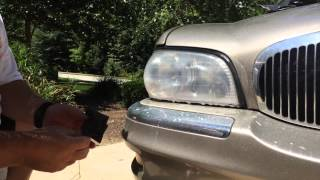 How To Clean Car Headlights 2000 Buick Park Avenue