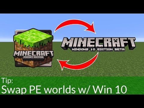 How to Import Pocket Edition Worlds into Minecraft Windows 10