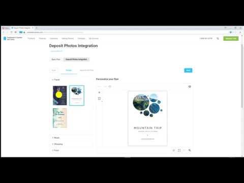 Customer's Canvas Depositphotos Integration Demo