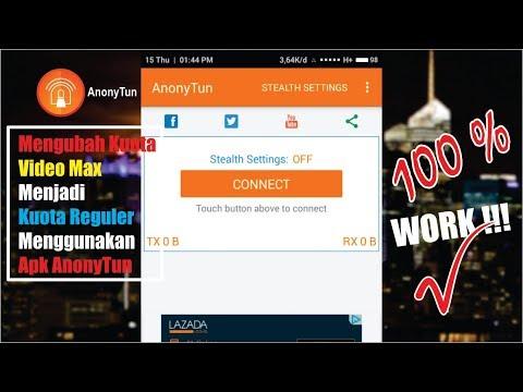 Cara Merubah Kuota VIDEO MAX Menjadi Kuota REGULER Menggunakan Apk Anonytun | TELKOMSEL | 100 % WORK