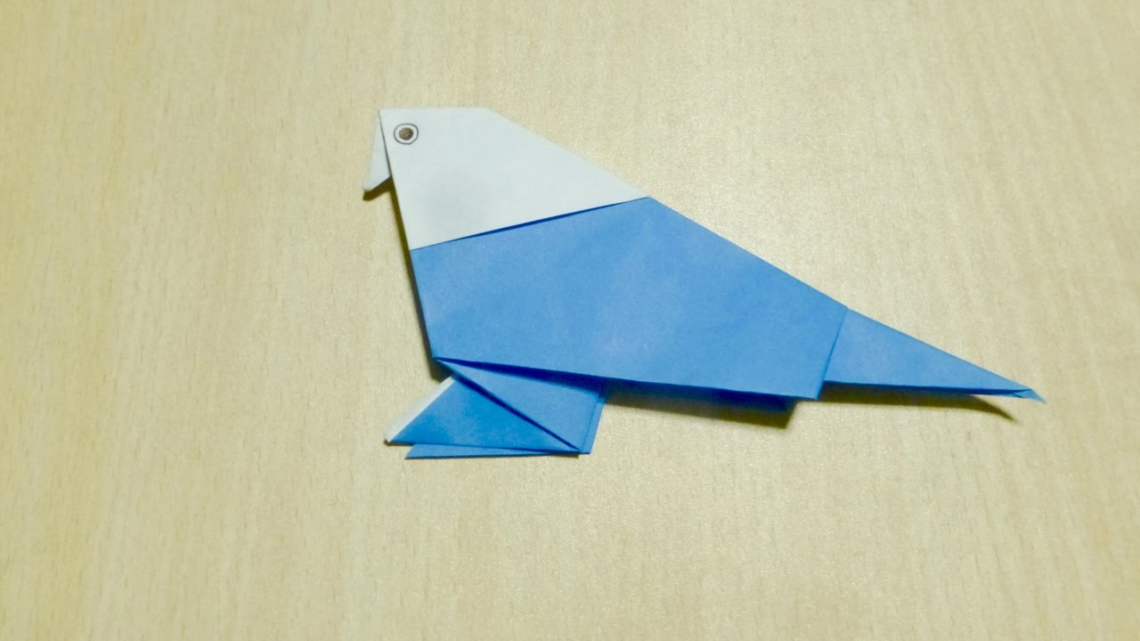 Diy craft how to make parakeet origami the art of for Craft work with paper folding