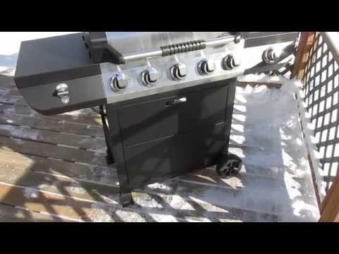 Brinkmann 5-Burner Propane Gas Grill  Model # 810-2511-S