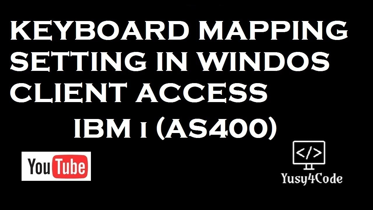 IBM i - Windows Client Access Keyboard settings | yusy4code