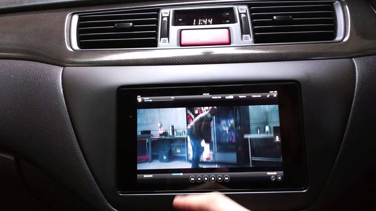 nexus 7 car install - evo 9 - youtube