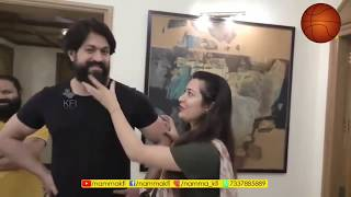 kgf-actor-yash-removed-his-beared-for-his-wife-radhika-pandit-