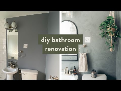 diy-small-bathroom-makeover-|-before-and-after-venetian-plaster