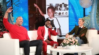 dwayne johnson reveals kevin hart39s awkward teen photo