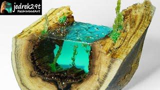 Ocean from Resin. Diorama / RESIN ART
