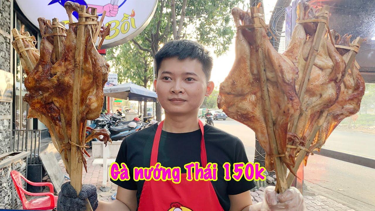 Cơn sốt gà nướng Thái kẹp tre ăn kèm cơm lam độc đáo đã xuất hiện tại đây