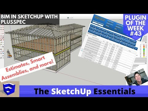 Smart Models in SketchUp with PlusSpec - The BIM Extension - Sketchup Plugin of the Week #43