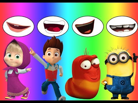 Thumbnail: Colors for children Wrong Mouth Bad Baby Dora Masha Larva Minions Ryder Family Song Nursery