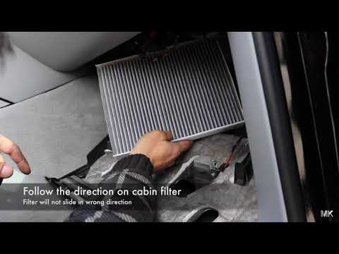 Porsche Cayenne. How to replace cabin filter :DIY