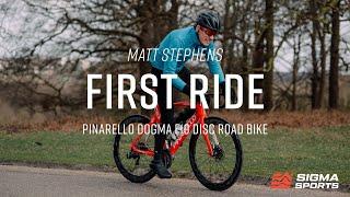 Matt Stephens' First Ride On The Pinarello Dogma F10 Disc Road Bike   Sigma Sports