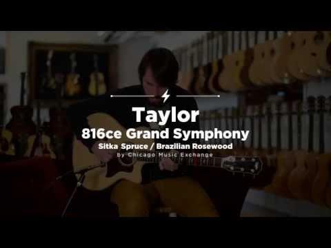 Quick Riffs: Taylor 816ce Grand Symphony Brazilian Rosewood Acoustic Guitar Demo