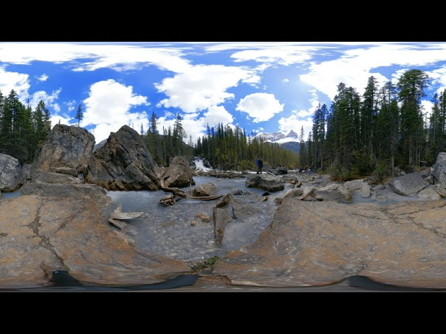 Yoho National Park Waterfall - Video 360