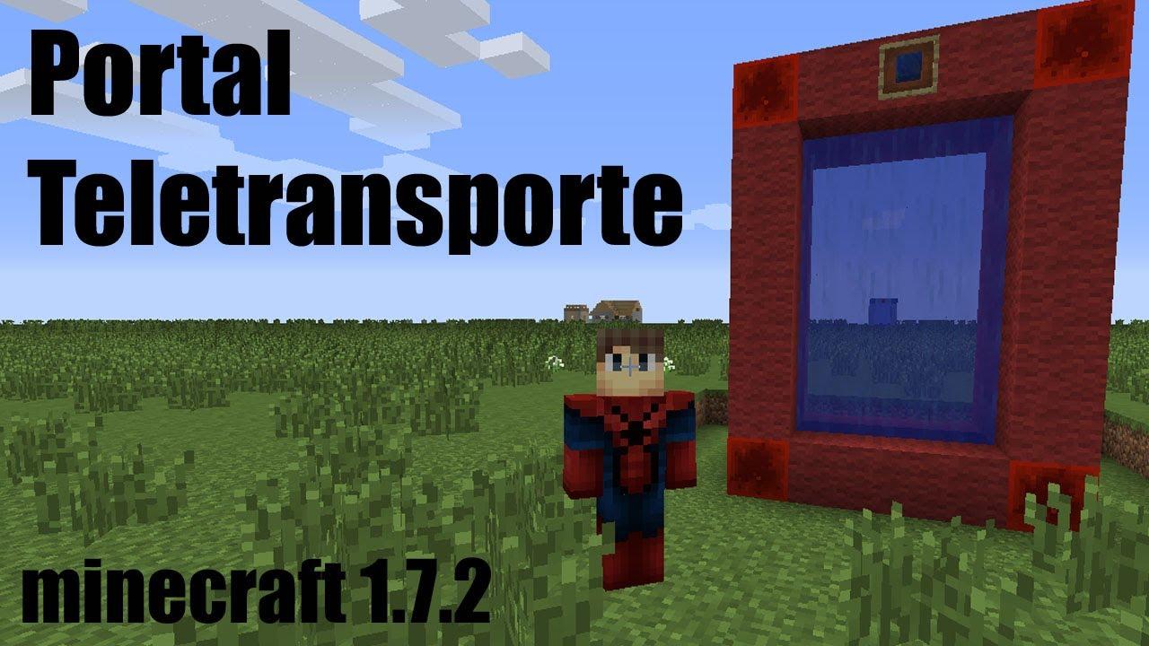 Portal teletransporte minecraft 1 7 2 sin mod youtube - Decoraciones para minecraft sin mods ...