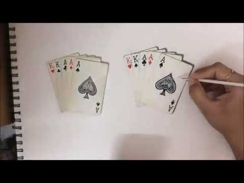 How To Draw 3d Art 3d Drawing Of Playing Cards Youtube