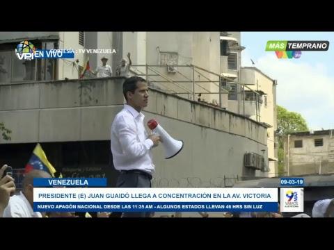 EN VIVO - Juan Guaidó llega a la Avenida Victoria en Caracas