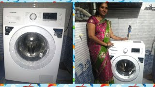 Samsung 6 Kg Fully-automatic Front Loading Washing Machine((ww60m206lmw/tl)  Full Demo In Telugu