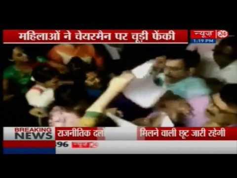 Women Councillors ruckus in municipal office  Surat