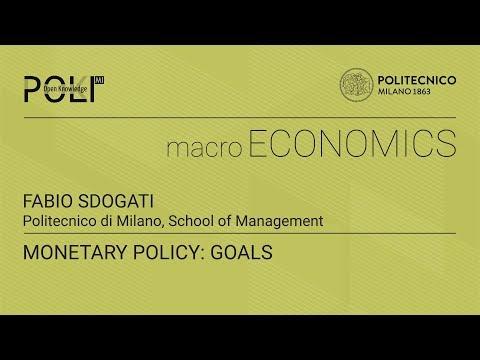 Monetary policy: goals (Fabio Sdogati)