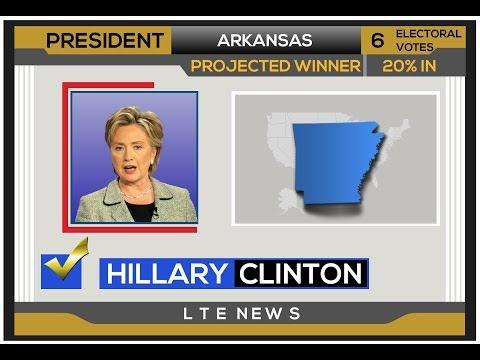 2008 Election Night | Hillary Clinton vs John McCain