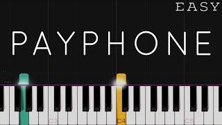 Maroon 5 - Payphone   EASY Piano Tutorial