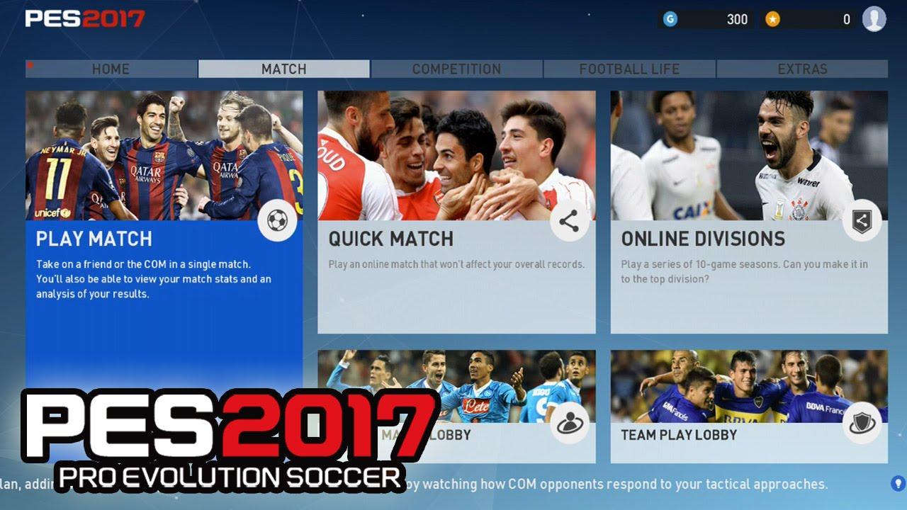 PES 2017 - NEW MENU, PRESENTATION, ALL Leagues & Licensed Teams