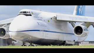 EXTREMELY RARE Antonov AN-124 Takeoff from Melbourne Airport