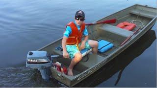 Jon Boat Pulling Boogie Boarder