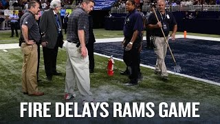 The Rams literally set their field on fire in Week3