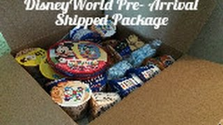 Pre- Arrival Shipped Package for Disney World