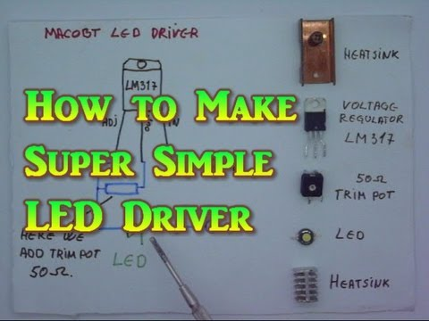 How to make Super Simple LED Driver or Laser Driver - YouTube