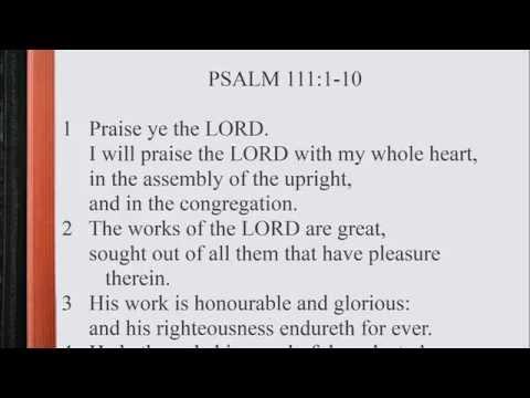 Psalm 111:1-10 ♩♫ KJV Scripture Song, Full Chapter