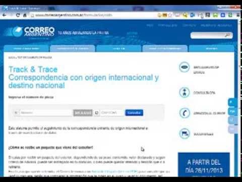 Como seguir paquete por Correo Argentino - YouTube