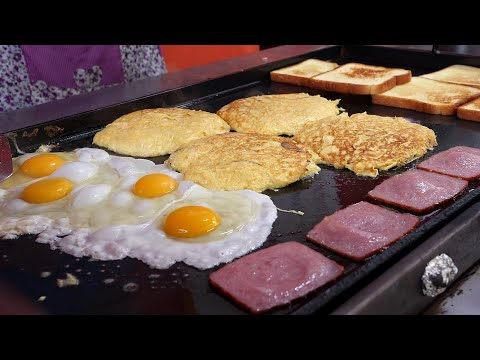 egg fried cheese toast 2,500KRW / korean street food