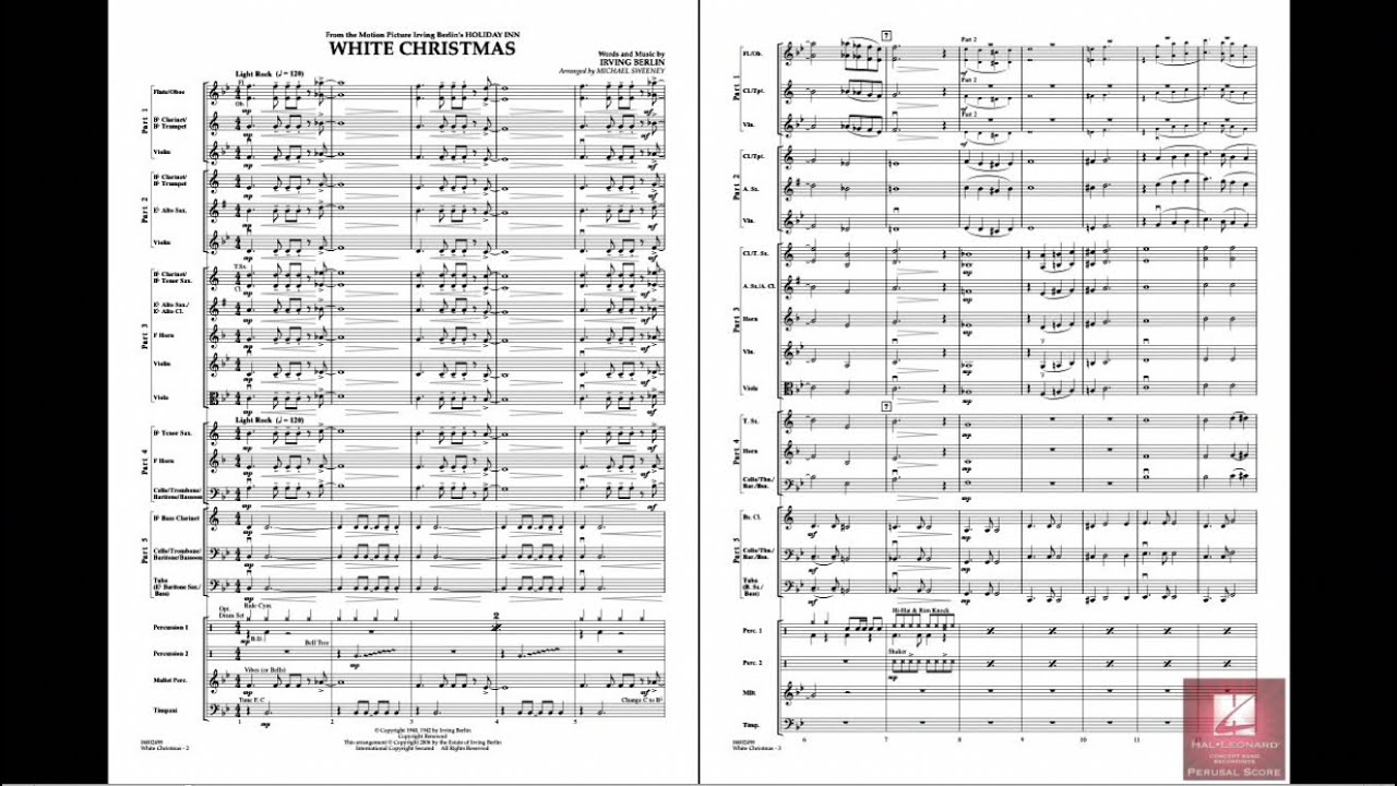 White Christmas by Irving Berlin/arr. Michael Sweeney - YouTube
