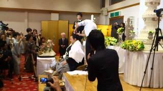 10月9日宿毛市で行なわれた 大相撲 豊ノ島関の結婚披露宴の様子です。