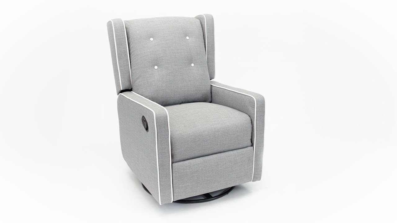 Baby Relax Mikayla Swivel Gliding Recliner Youtube