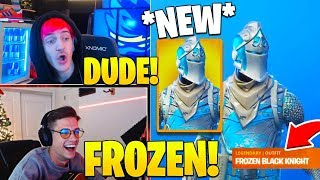 Streamers React To *NEW* FROZEN BLACK KNIGHT! - Fortnite FUNNY Moments