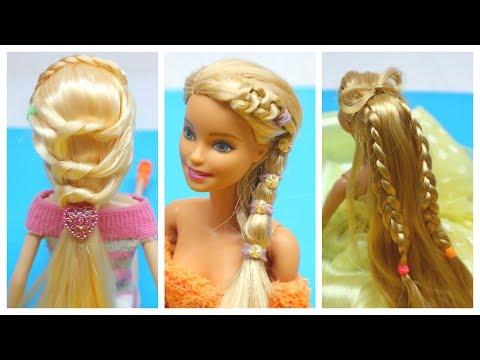 Barbie Doll Hair CÁCH LÀM 3 KIỂU TÓC XINH ĐẸP CHO BB của bạn Ami DIY