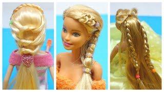 Barbie Doll Hair CÁCH LÀM 3 KIỂU TÓC XINH ĐẸP CHO BÚP BÊ Ami DIY