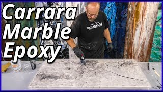 How to Make White Carrara Marble with Epoxy | Stone Coat Countertops