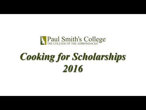 2016 Paul Smith's College Cooking for Scholarships