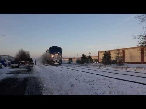 A Snowy Afternoon Of Railfanning @ Pent Hwy In Wallingford, CT 2-10-17